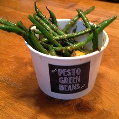 Pesto Green Beans Pesto, Green Beans, Meals, Vegetables, Food, Meal, Veggies, Vegetable Recipes, Yemek