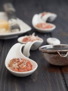Gambero rosso di Mazara con cacao e Ragusano DOP