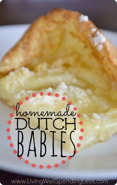 Homemade+Dutch+Babies.++A+delicious+cross+between+a+baked+pancake+and+a+buttery+souffle.....pretty+much+the+yummiest+breakfast+dish+ever!++Our+go-to+breakfast+choice+for+overnight+guests,+birthdays+and+holidays!