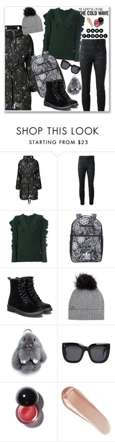 """""""Winter day"""" by hani-bgd ❤ liked on Polyvore featuring RED Valentino, Dolce&Gabbana, Fendi, adidas Originals, Woolrich, STELLA McCARTNEY, NARS Cosmetics, jacket, polyvoreeditorial and winterboots"""
