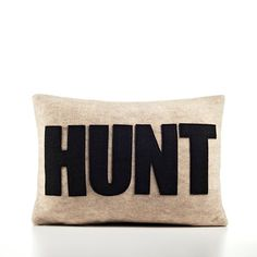 hunt toss pillow