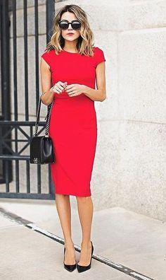 Платье-футляр (100 фото)