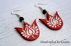 Tulip folk Jewelry by EviJewelry on Etsy