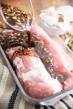 10 Most Misleading Foods That We Imagined Were Being Nutritious! Maple Balsamic Pork Tenderloin By Sonia The Healthy Foodie Recipe On Meat Recipes, Cooking Recipes, Healthy Recipes, Cooking Tips, Recipies, Beginner Cooking, Pork Recipes For Dinner, Basic Cooking, Cooking Classes
