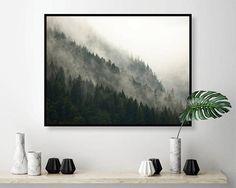 Misty Mountainside Printable Art Downloadable Prints