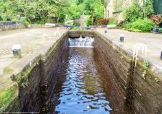 Library Lock is a canal lock on the Rochdale Canal at Todmorden. The lock sits alongside the main Todmorden road that crosses the canal in the centre of the town.