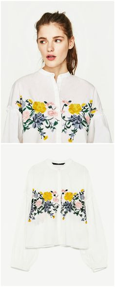 Hippie Style Embroidery Top now available at $37. This top exhibit brilliant colours with beautiful embroidered patterns.