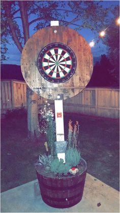 Backyard games 671388256931313350 - DIY Dart backboard Source by