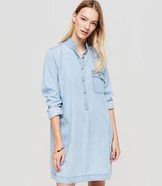 Primary Image of Lou & Grey Chambray Shirtdress