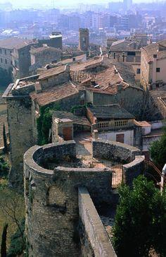 Detall Call Jueu Girona Catalonia