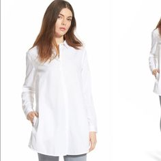 🎉HOST PICK 2/17🎉 BNWT Trouvè Painter's shirt. Trouvè white button down painter shirt with pockets and collar. Stunning . Brand new with tags size XSmall. As seen in the first photo. The back is fabulously unique. Trouve Tops Button Down Shirts