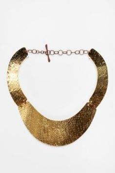 hammered gold necklace-love this wish I could find a similar piece at a lower price.