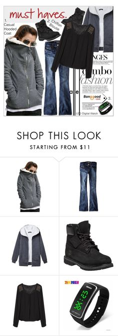 """Must Haves (Banggood)"" by shambala-379 on Polyvore featuring Metropolis, American Eagle Outfitters and Timberland"