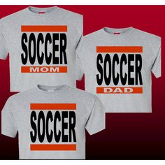 Soccer Mom Shirt or Soccer Dad Shirt Heather Grey T-Shirt Large Soccer... ($14) ❤ liked on Polyvore