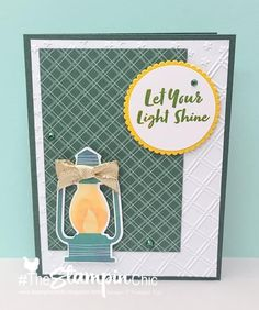 Camping Cards, Stampin Up Paper Pumpkin, Let Your Light Shine, Pumpkin Ideas, Stamping Up Cards, Quick Cards, And So The Adventure Begins, Alternative, Paper Crafts