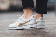 #Nike Cortez QS Gold Swoosh