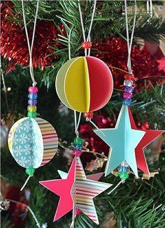 Weihnachtsbaumschmuck basteln und den Tannenbaum originell schmücken - http://freshideen.com/dekoration/weihnachtsbaumschmuck.html