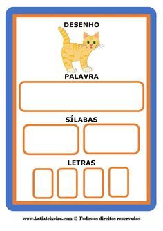 Fichas consciência fonológica ~ Espaço Professor Alphabet Games, Busy Bags, English Words, Kids Education, Literacy, Gisele, Classroom, Teaching, Writing
