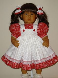 Dress and Matching Bows for 21-24 inch Lee by SewbeitsDollWear