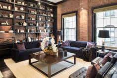 Best Home Library Loft Brick Walls Ideas Loft Interiors, Urban Loft, Interior Decorating, Interior Design, Room Interior, Home Staging, Cozy House, Cozy Cabin, Interior Inspiration