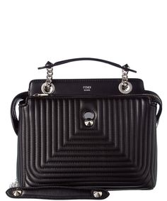 FENDI Fendi Dotcom Click Small Quilted Leather Chain Satchel'. #fendi #bags #shoulder bags #hand bags #leather #satchel #lining #