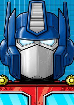 Optimus Prime Portrait Series by Thuddleston.deviantart.com on @deviantART
