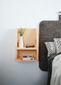 How to build a floating nightstand | Pinterest: Natalia Escaño