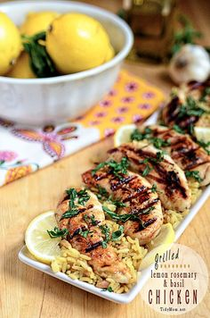 Try out this grilled lemon basil chicken recipe this summer...