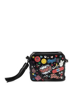 All Over Wink Crossbody Bag, Black by Anya Hindmarch at Neiman Marcus.