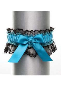 David`s Bridal Black Lace with Satin Bow Garter Style DB20-2003