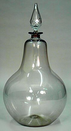 English Victorian accessories apothecary jar/canister crystal