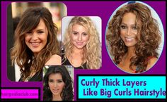 Curly Thick Layers Like Big Curls Hairstyle //  #curls #Curly #Hairstyle #layers #like #Thick
