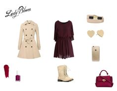 """""""Girly in the autumn..."""" by nora-simpson on Polyvore featuring Chicwish, Kate Spade, Rifle Paper Co, See by Chloé, NARS Cosmetics, Essie and Salvatore Ferragamo"""