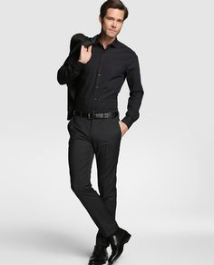 Camisa de hombre Tommy Tailored slim lisa negra · Tommy Tailored · Moda ·  El Corte 2304bfaa64a