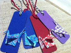 Origami gift tags