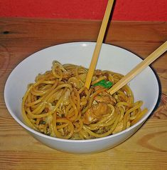 Bratnudeln 'China' Fried noodles & # China & # Related posts: Fried asia noodles Heat the wok – for fried Asia noodles Chow Mein Asian Mie noodles with vegetables, fried Asian fried noodles