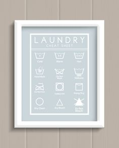 Laundry Room Cheat Sheet Art Print