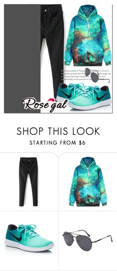 """ROSEGAL 45"" by miralemaa ❤ liked on Polyvore featuring NIKE and rosegal"
