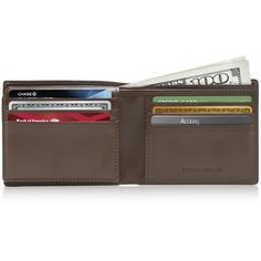 054fe00e785d Faux Leather Bifold Wallet RFID Blocking | Access Denied Rfid Wallet, Leather  Bifold Wallet,