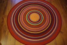 Large crochet round rug 60'' 150 cm by AnuszkaDesign on Etsy, $185.00