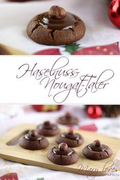 Aus der Weihnachtsbäckerei - Haselnuss-Nougat-Taler - #weihnachtsbäckerei #haselnussnougattaler #plätzchen #weihnachtsplätzen #plätzchenrezept #nussplätzchen