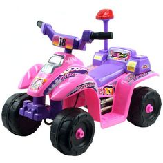 Lil' Rider Princess 4 Wheeler Mini ATV gives kids the new adventure and role play of riding their own ATV. Ez Rider, Atv Riding, Atv Four Wheelers, Ride On Toys, Sports Toys, Tricycle, Toys For Boys, Kids Toys, Baby Toys