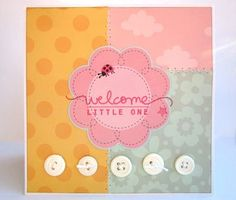 Simple, great way to use up die cuts...