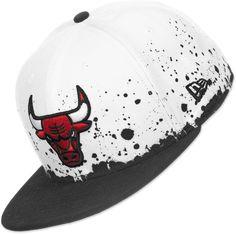 41ddeb9e0e3 New Era Panel Splatter Chicago Bulls Gorra negro blanco