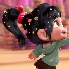 Image result for vanellope von schweetz hair
