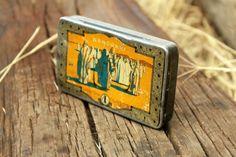 Senoussi Cigarette Tin  Vintage Cigarette Tin Box  by NarMag