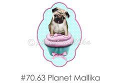 Bügelbild MOPS CAKE   von Planet Mallika auf DaWanda.com