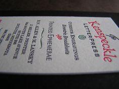 Kenspeckle Card ~ Letterpress by Warrior Printress, Janelle Miller