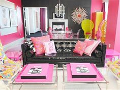 Barbie-obsessed vacationers can stay in their very own dream house in this Palms Las Vegas suite. The Jonathan Adler-designed suite features corseted lace-up chairs, a sunburst mirror made from 65 Barbie dolls, and pink things.