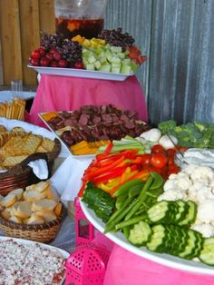 this is a catering service in Canada, but check out her presentations and you might see a couple ideas for  reception,   veg and fruit
